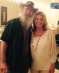 Cindy with Si Robertson from Duck Dynasty on the Marcus & Joni show on Daystar.